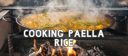 Cooking paella rice