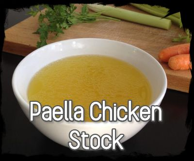 Paella chicken stock