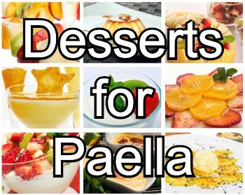 Best desserts for paella