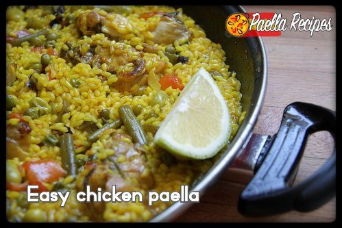 Easy chicken paella recipe