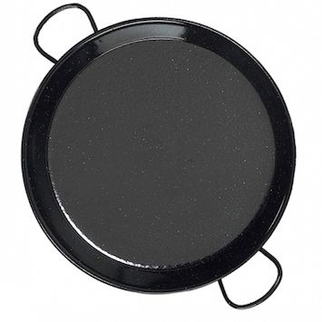 enameled steel paella pan