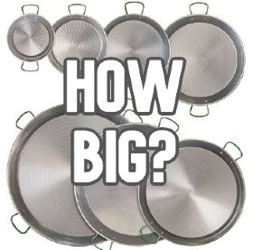 How big a paella pan do I need?