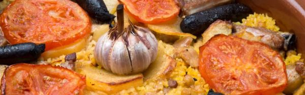 Oven-baked paella (arroz al horno in Spanish)