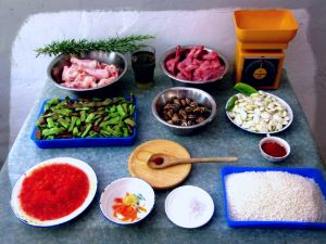 ingredients for paella rice
