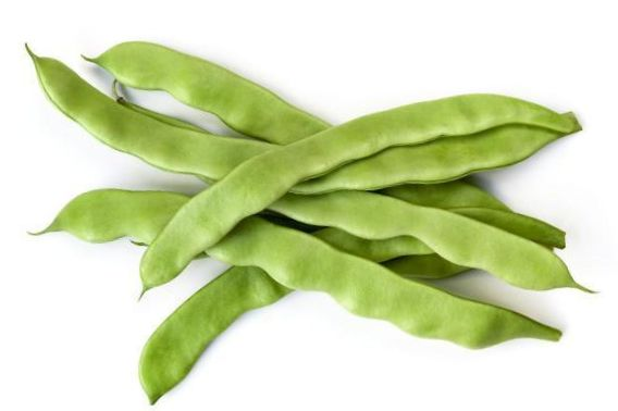 This image has an empty alt attribute; its file name is runner-beans-for-paella.jpg