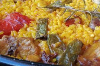 Spanish meat paella