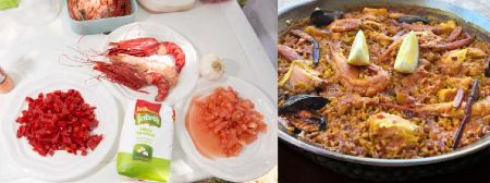 what are the ingredients in paella